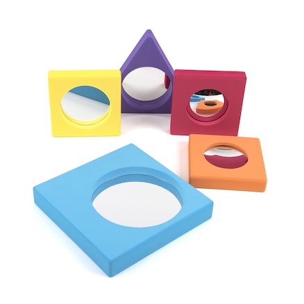 Assorted Colour Frame Mirrors Rainbow 5pk  large