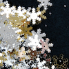 Silver, Gold and White Snowflake Sequins 70g  small