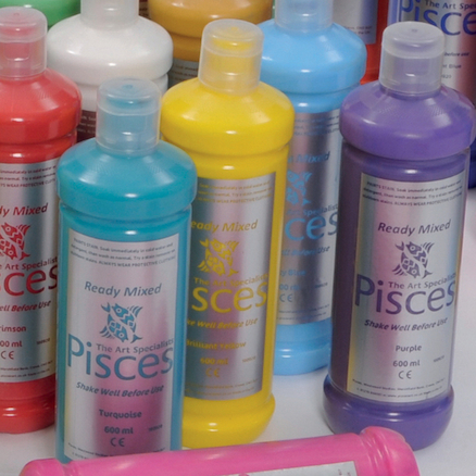 Pisces Assorted Ready Mixed Paint 600ml 20pk  large