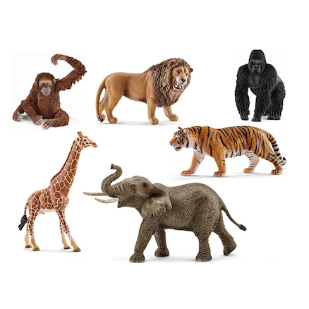 Small World Schleich Jungle Animal Set 6pcs  large