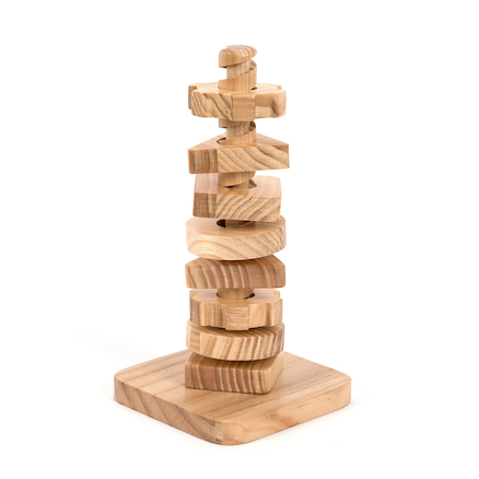 Wooden Twist \x26 Turn Tower  large