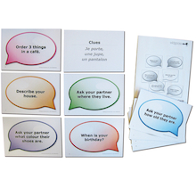 French Language Challenge Cards 30pk  medium