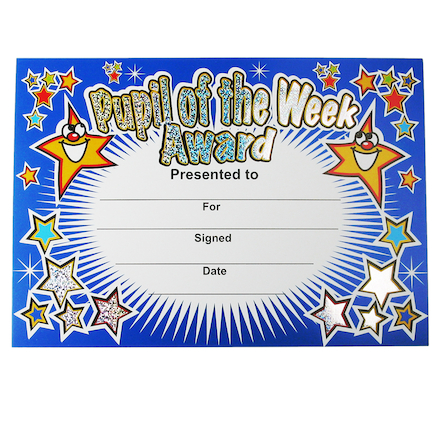 Assorted Sparkly Certificates 120pk  large