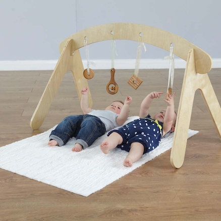 Wooden Baby Sensory Rail  large