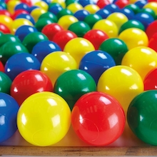 Plastic Ball Pool Balls 100pk  medium