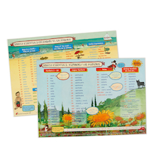 Spanish Vocabulary Desk Mats Set  medium