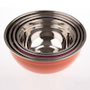 Budget Colourful Plastic and Metal Bowl Set  small