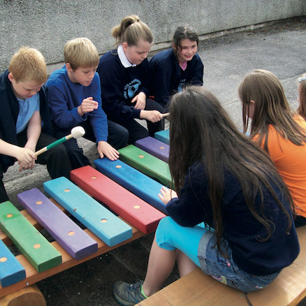 Coloured Giant Outdoor Xylophone  large