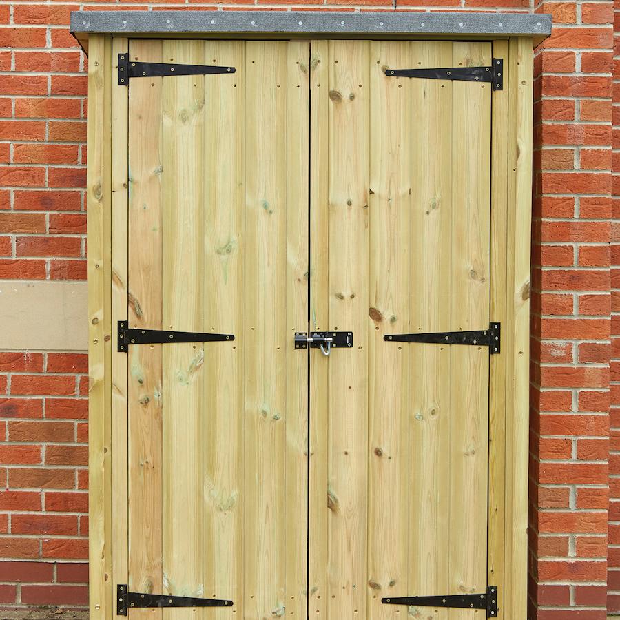 Buy Outdoor Wooden Lockable Storage Cupboard Tts