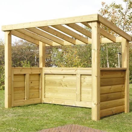Outdoor Wooden Role Play Centre W2 x H1.5m  large