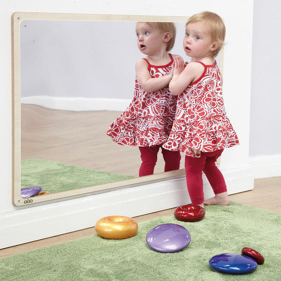 Buy Wooden Framed Toddler Mirror 106 X 66cm Tts