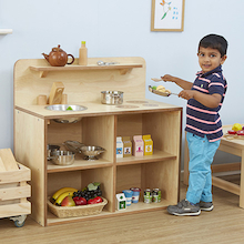 Toddler Wooden Role Play Kitchen Unit  medium