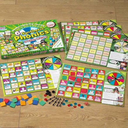 6 Synthetic Phonics Phase 4 Board Games  large