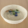 Smooth Soft Woven Treasure Basket Dish 39cm  small