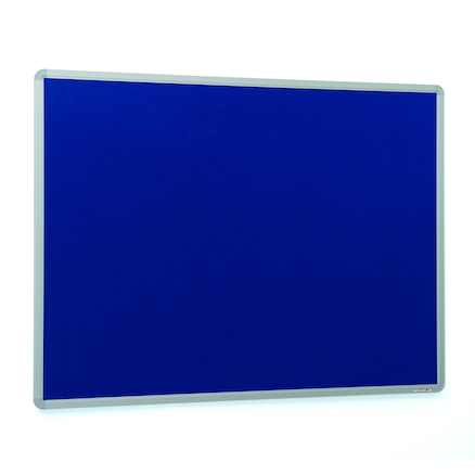 Aluminium Framed Noticeboard H600 x W900mm Grey  large