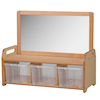 PlayScapes Low Mirror Storage Unit with 3 Baskets  small