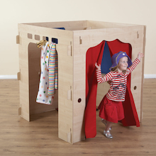 Role Play Wooden Mirrored Dressing Up Cube  medium