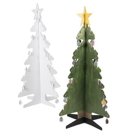 Kid\-Eco Cardboard Christmas Tree \- White  large