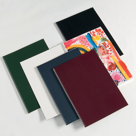 Pisces Laminated Spiral Sketchbooks A3 140gsm  large