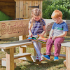 Outdoor Wooden Buddy Corner Bench  small