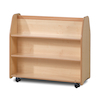 Mobile Double Sided Wooden Trolley  small