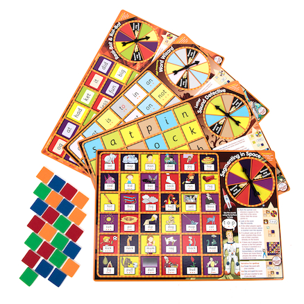 4 Synthetic Phonics Phase 2 Board Games  large