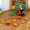 Mini Bug Circular Floor Mats 14pk  small