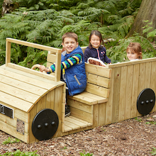 Outdoor Wooden Role Play Truck  medium
