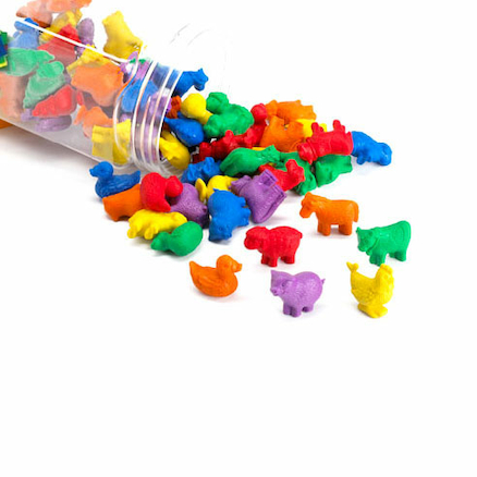 Colourful Farm Animal Counters 72pcs  large