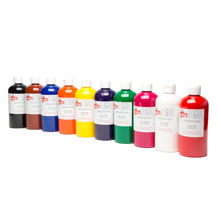 Multicrom Multi Surface Paint Assorted 500ml 10pk  large