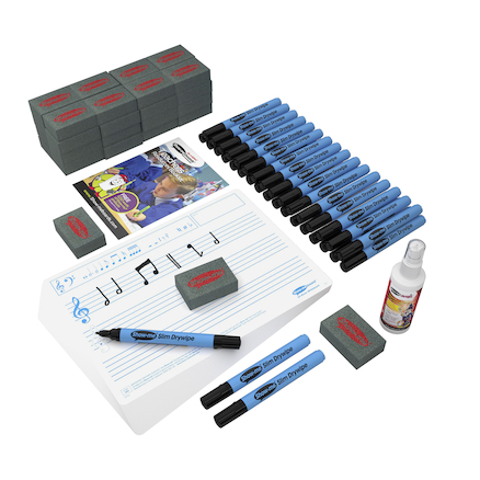 Music Stave Whiteboard Class Set 35pk  large