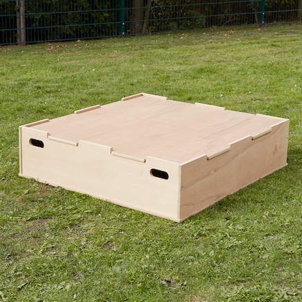 Sandpit with Stage Lid  large