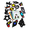 Stained Glass Window Display Paper Shapes 30pk  small