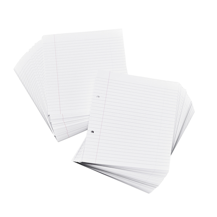 Lined, Margin, Punched Exercise Paper A4 8mm  large
