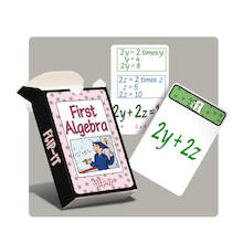 Flip-It Basic Rules Algebra Activity Cards  medium