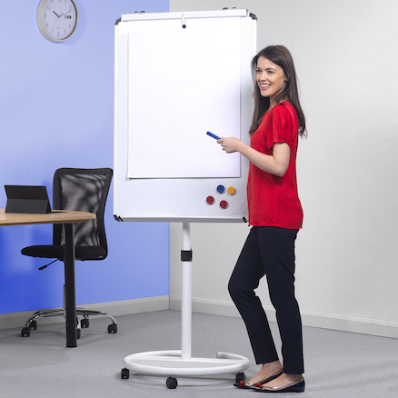 Mobile Presentation Whiteboard and Flipchart  large