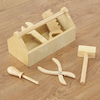 Assorted Wooden Tool Collection 5pcs and Caddy  small