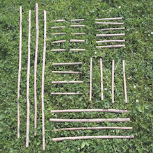 Natural Assorted Wooden Sticks 32pk  medium