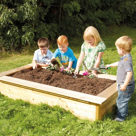 Wooden Rectangular Sandbox and Planter  large
