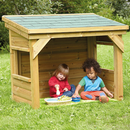 Outdoor Wooden Toddler Den  large