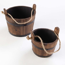 Wooden Buckets 2pk  medium