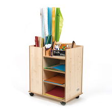 Poster Paper Wooden Storage Unit  medium