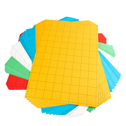 1cm Square Grid Modelling Checkcard A2 50pk  large