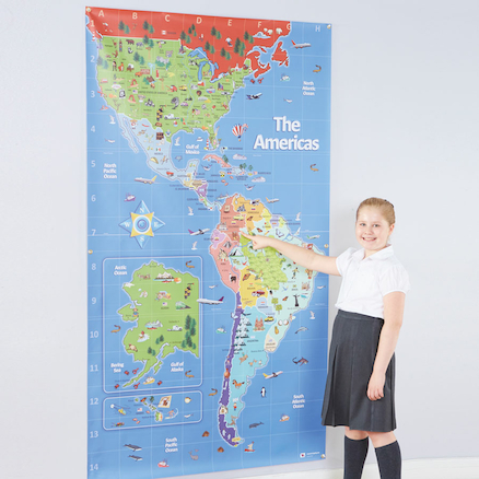 Americas Bee\-Bot Map 210 x 120cm  large