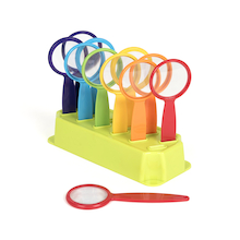 Rainbow Coloured Magnifying Glasses in Stand – 12pk  medium
