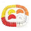 Colourful Place Value Number Fans 60pcs  small