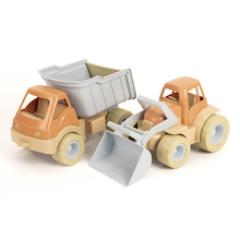 Bio Plastic Tractor and Truck Set 2pk  medium