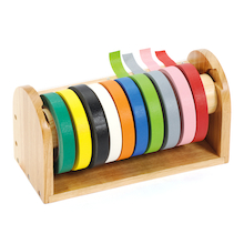 Easy Loading Wooden Tape Dispenser  medium