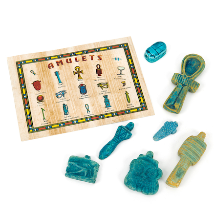 Egyptian Tomb Amulets Collection  large
