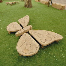 Outdoor Wooden Butterfly  medium